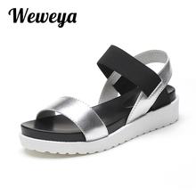 Weweya 2018 New Summer Women Sandals Shoes Fashion Peep toe Flats Shoes Woman Roman Female Sandals Shoes Women Mujer Sandalias