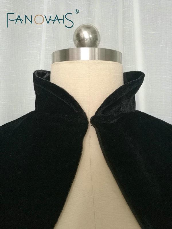 32f9e31d9f US $35.7 15% OFF|Velvet wedding Jacket Long Sleeves Black Bridal Boleros  High Neck Elegant wedding Bolero Muslim Wedding Jacket Plus Size-in Wedding  ...