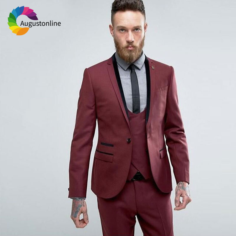 Men suits for wedding ,wedding suits for men ,groom tuxedos,best man blazer masculino ,terno masculino,Costume Homme Mariage (14)