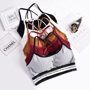Image 1 - 2020 إمرأة مثير عادية سليم أكمام تانك القمم الصدرية بلون المحاصيل الأعلى للسيدات قميص لياقة بدنية النساء الملابس بلايز