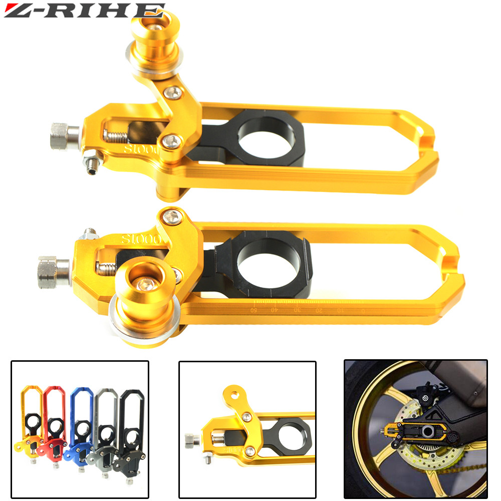 Motorcycle Chain Adjusters Tensioners Catena For BMW S1000RR 2009 - 2014 / S1000R 2013 2014 2015-2017 For BMW HP4 2012-2014 new motorcycle cnc billet rear axle spindle chain adjuster blocks for bmw hp4 2012 2014 s1000r 2013 2015 s1000rr 09