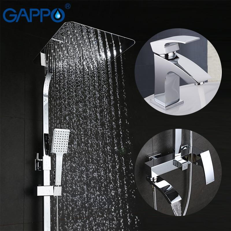 GAPPO shower faucet bath tub faucet basin sink mixer faucet bathroom shower head brass mixer tap faucet
