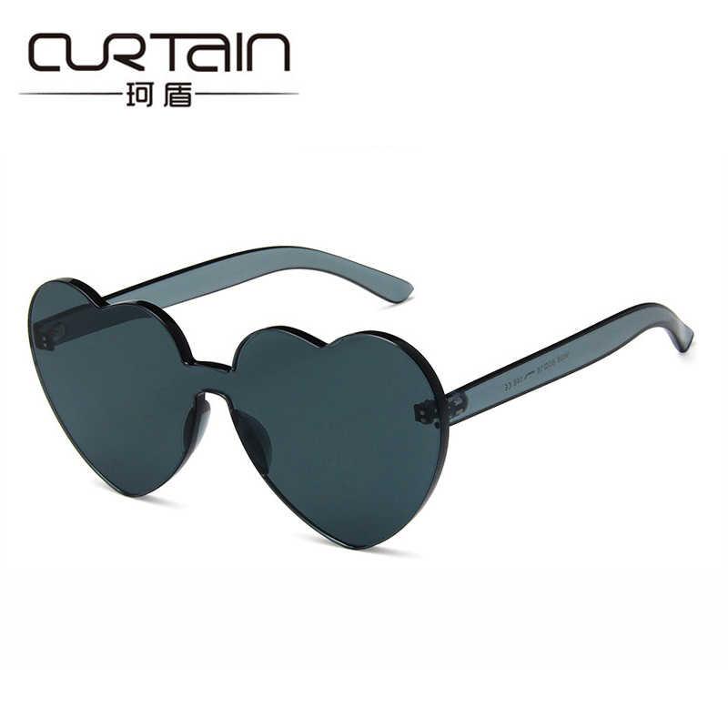 Занавес солнцезащитные очки для женщин 2018 в форме сердца сиамские ясно  желе солнцезащитные очки оптом Для ee479a80fb019