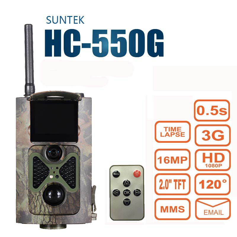 Suntek HC550G Hunting Trail Camera 3G HD 16MP 1080P Video Night Vision MMS GPRS Scouting Infrared Game Hunter Cam серверная платформа supermicro sys 5018a ftn4 sys 5018a ftn4