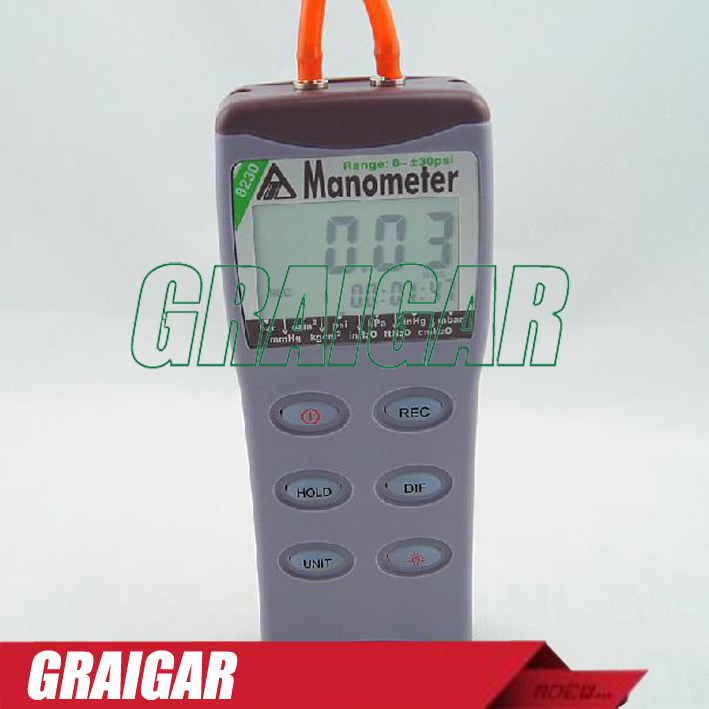 AZ8230 gas pressure gauge manometer differential pressure Meter tester gauge  цены