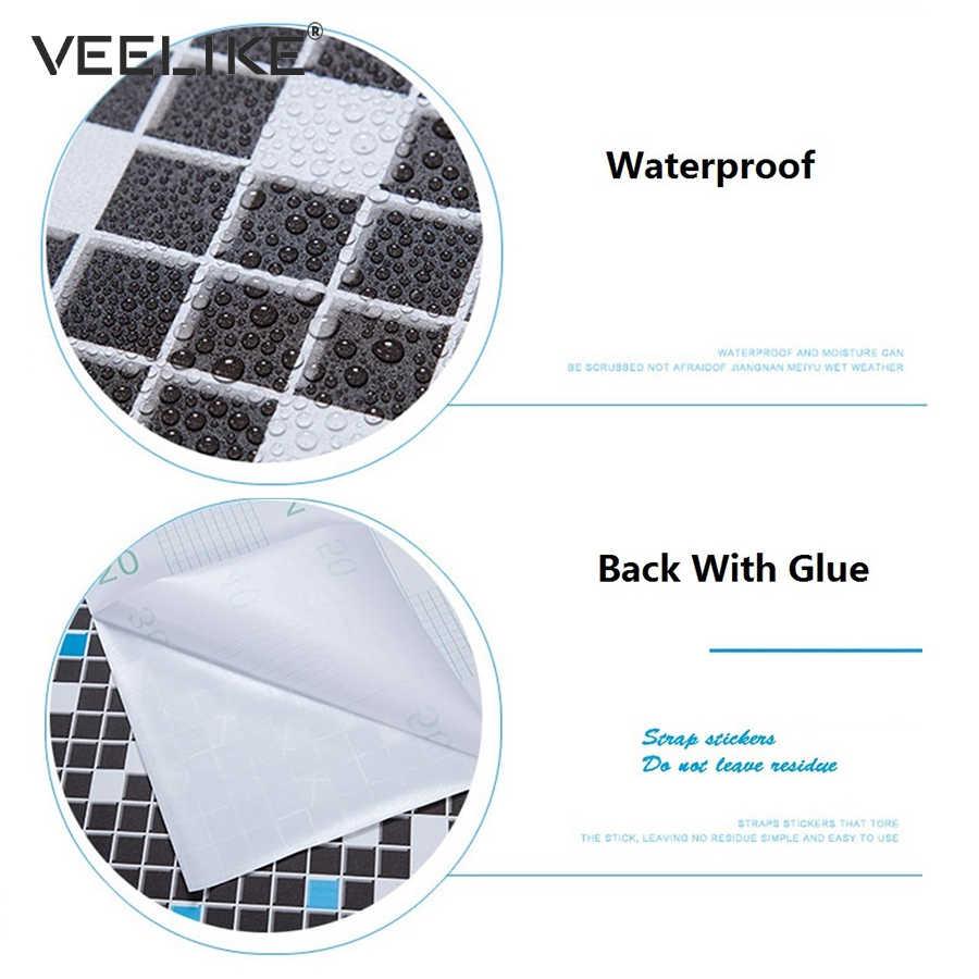 Bathroom vinyl pvc self adhesive wallpaper for kitchen backsplash tiles sticker contact paper waterproof home decor