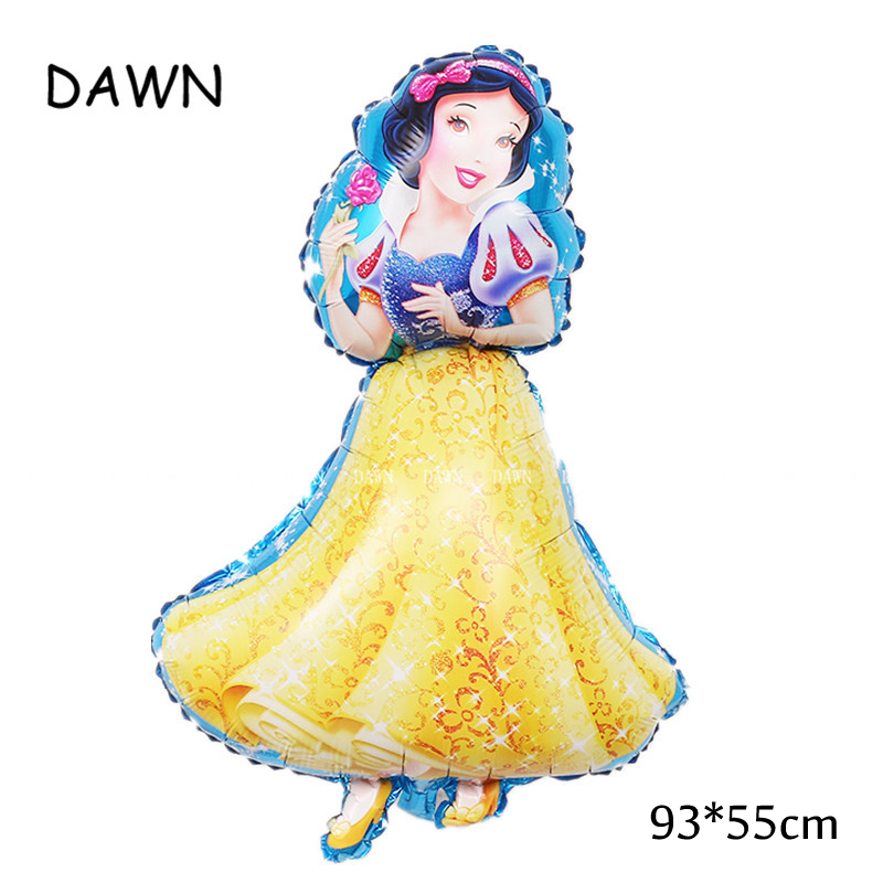 Large Belle Cinderella Princess Snow White Balloons For Baby Birthday Party Decoration 3