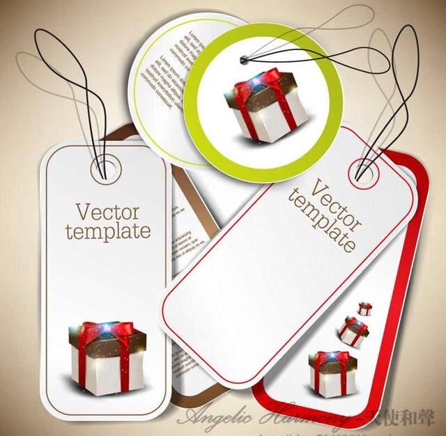 Weihnachtsmann kommt, benutzerdefinierte hängen Tags/Kleidung ...