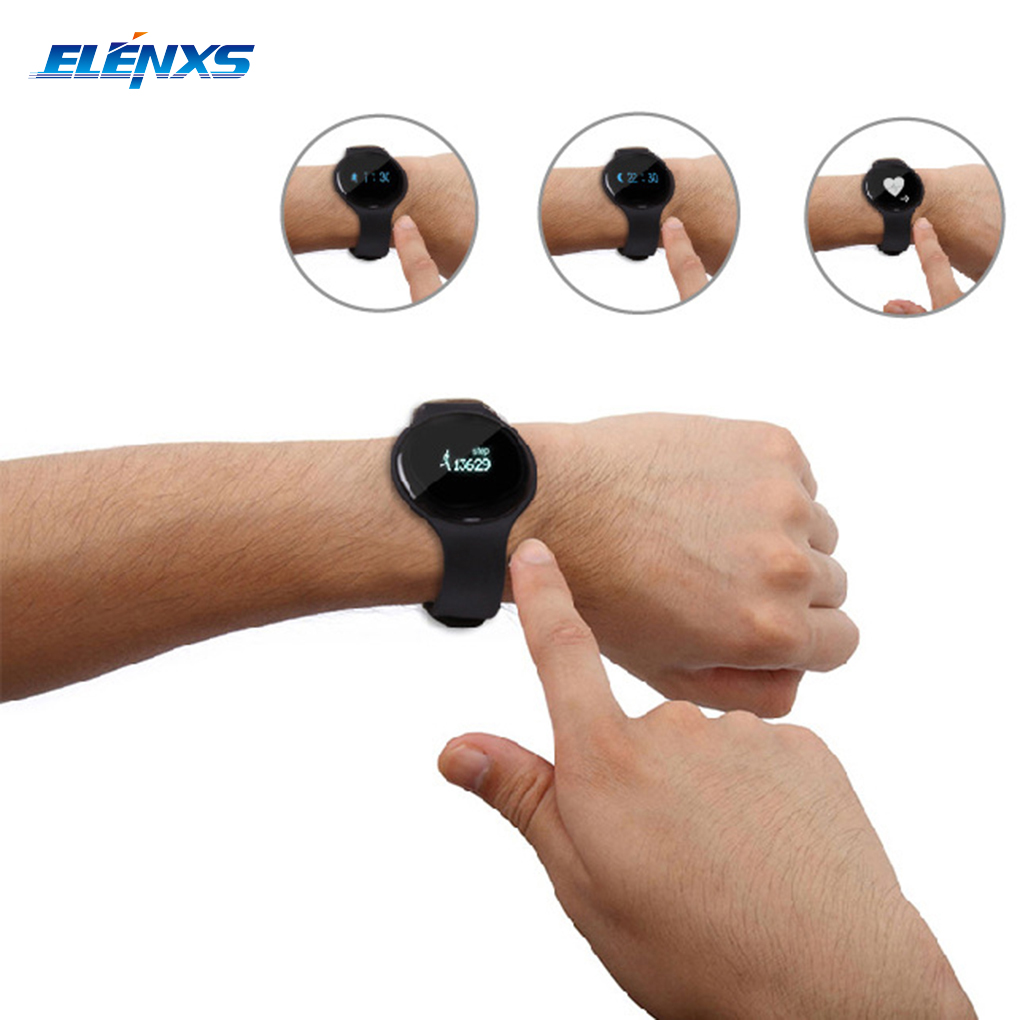 H8 Bluetooth Wristbands Health Monitoring For Android IOS Smartphones Alert Smart Bracelet Heart Rate Wristwatch