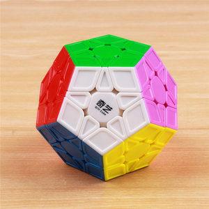 Image 2 - QIYI rompecabezas megaminxeds de 12 lados para niños, cubo mágico, velocidad sin pegatinas, juguete educativo