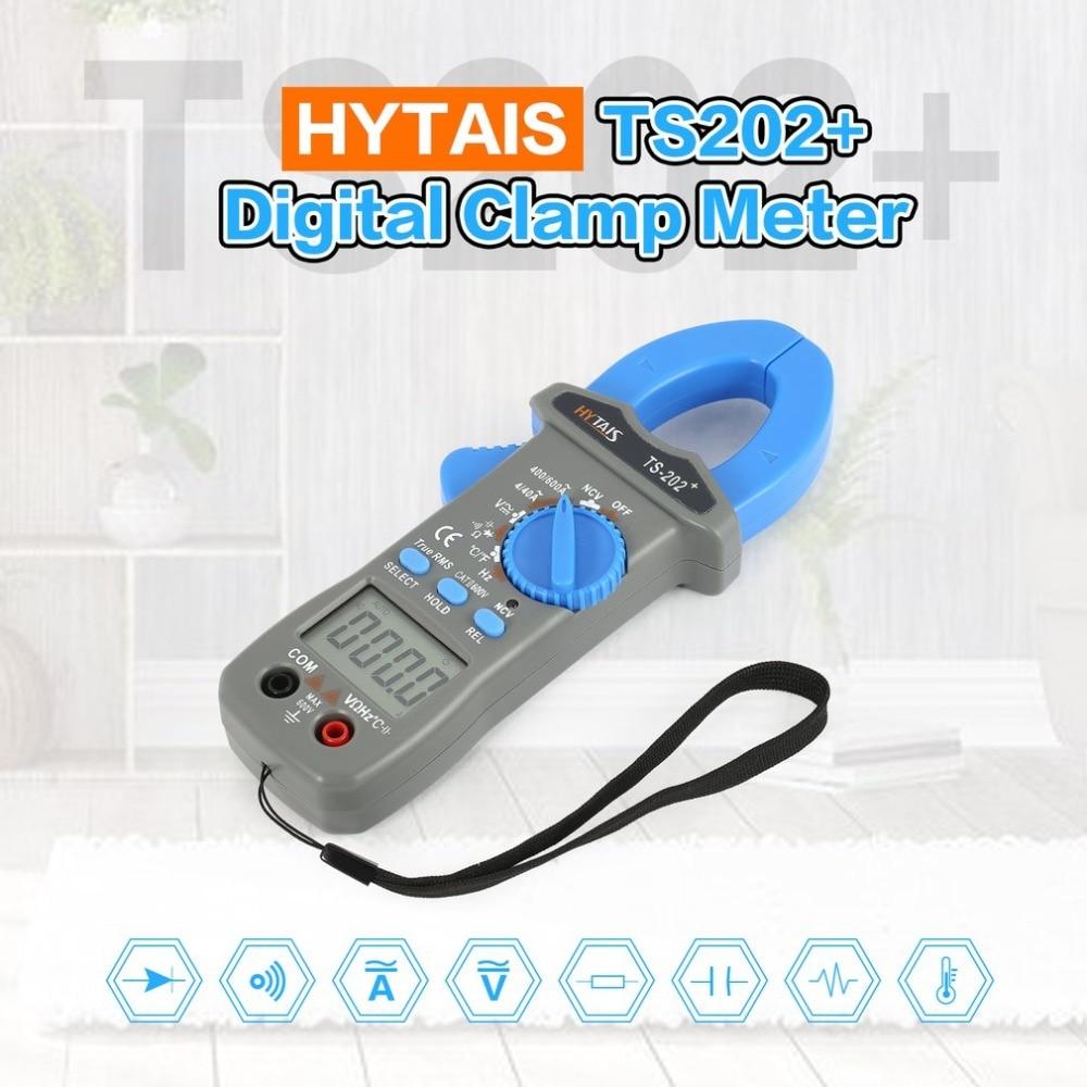 HYTAIS TS202 Multimeter Digital Clamp font b Meter b font True RMS AC DC Frequency NCV
