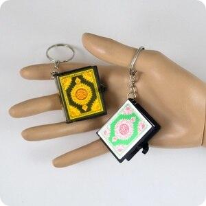 Image 3 - Chaînes à clé pour lire en papier, Mini coran, langue arabe, Islam, Islam, ALLAH, véritable pendentif, bijoux religieux à la mode