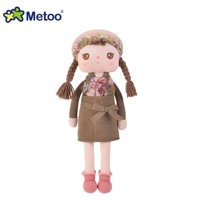 Plush Sweet Cute Lovely Stuffed Baby Kids Toys for Girls Birthday Christmas Gift 10.5 Inch Angela Rabbit Girl Metoo Doll