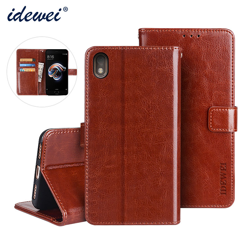 IDEWEI For BQ 5209L Case Cover Luxury Leather Phone Case For BQ Mobile BQ 5209L Strike LTE Protective Flip Case Wallet Case 5.2