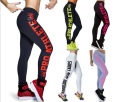 S-4XL 7 Color Women Fitness Leggings Plus Size Printed Letter Slim Elastic Sprting legging Push-up Workout pants For Ladies