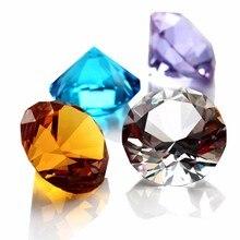 30mm Kleurrijke Crystal Diamond Gelukkige Verjaardag Bruiloft Decoratie Evenement Feestartikelen Home Decoratie Accessoires Ornament