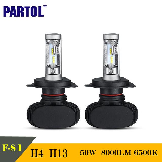 CSP Partol S1 50 W H4 H13 LLEVÓ Bombillas de Los Faros Del Coche DEL CREE Chips de Hi-lo Haz 8000LM 6500 K Auto Faros LED Para la Luz de Conducción 12/24 V