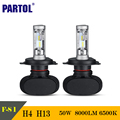 Partol S1 50W H4 H13 CSP LED Car Headlight Bulbs CREE Chips Hi-Lo Beam 8000LM 6500K Auto LED Headlights Driving Light For 12/24V