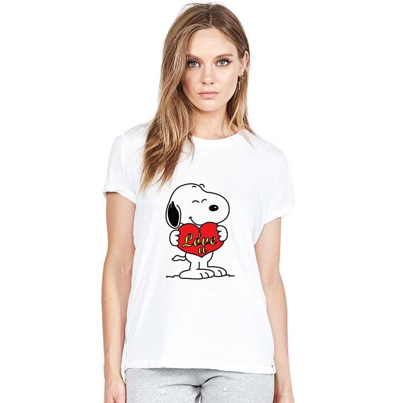Cartoon Harajuku Cute Snoopy Tv Summer Plus Size Loose O-NECK Modal Short Sleeve Tshirt Woman Fashion Casual Tshirts A19516