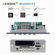 KEBIDU Bluetooth 5,0 MP3 декодирующая плата модуль беспроводной Автомобильный USB MP3 плеер TF слот для карт/USB/FM/пульт дистанционного декодирования модуль