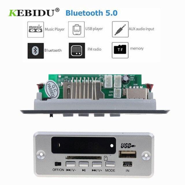 KEBIDU Bluetooth 5,0 MP3 декодирующая плата модуль беспроводной Автомобильный USB MP3-плеер TF слот для карт/USB/FM/пульт с декодером Модуль платы