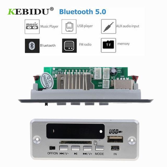 KEBIDU Bluetooth5.0 MP3 デコードボードモジュールワイヤレスカー Usb MP3 プレーヤー TF カードスロット/USB/FM/リモートデコードボードモジュール