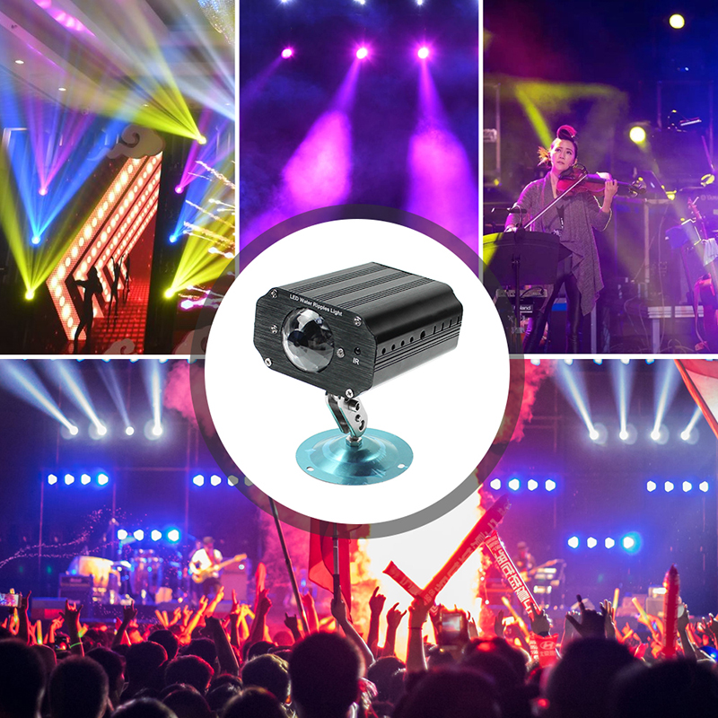 Remote Control LED Stage Light RGB Mini Projector Laser Lighting Effect Auto/Sound Activated Holiday Wedding Party DJ Disco Lamp 2pcs 4x18w led rgbwa uv battery stage light battery powered effect led stage lights with remote control disco party dj projector