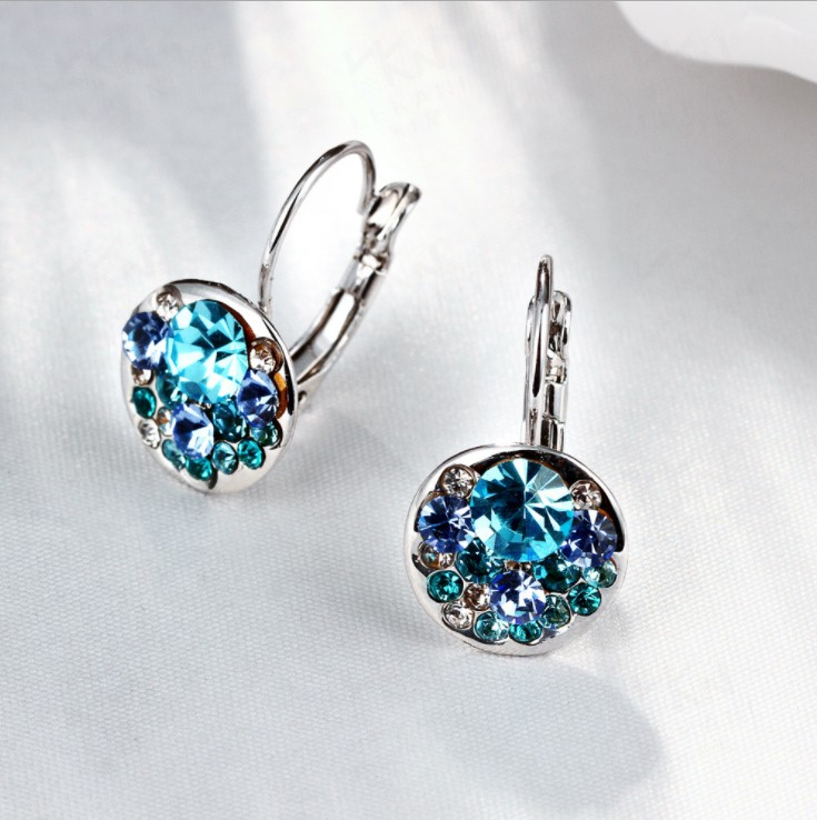 Fashion jewelry Crystal heart pendant eardrop earrings Made with Swarovski  ELEMENTS for 2019 Mothers Day women giftFashion jewelry Crystal heart pendant eardrop earrings Made with Swarovski  ELEMENTS for 2019 Mothers Day women gift