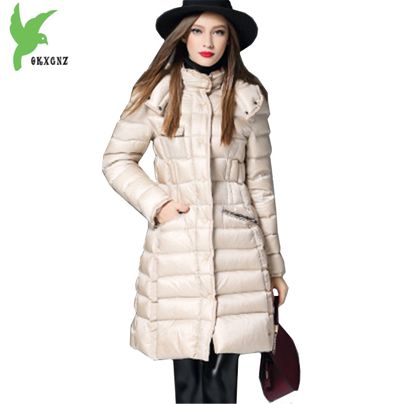 New High Quality Women Winter Jacket Coats Down cotton Parkas Thicker Hooded Outerwear Plus size Warm Slim Jackets OKXGNZ A1146 winter women s cotton jackets new fashion hooded warm coats solid color thicker casual tops plus size slim outerwear okxgnz a735