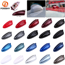 цена на POSSBAY Car Shark Fin Antenna Auto AM/FM Roof Antennas Super Stronger Signal Radio Aerial for Nissan Toyota BMW Kia Antena Coche