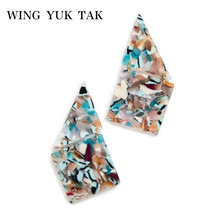 wing yuk tak Punk Irregular Acrylic Earrings for women 2019 Colorful Leopard Dangle Drop For Women Pendientes Brincos