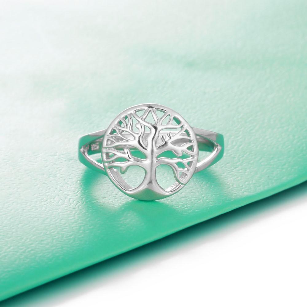 خاتم فضة شجرة الحياة الكلاسيكية 7