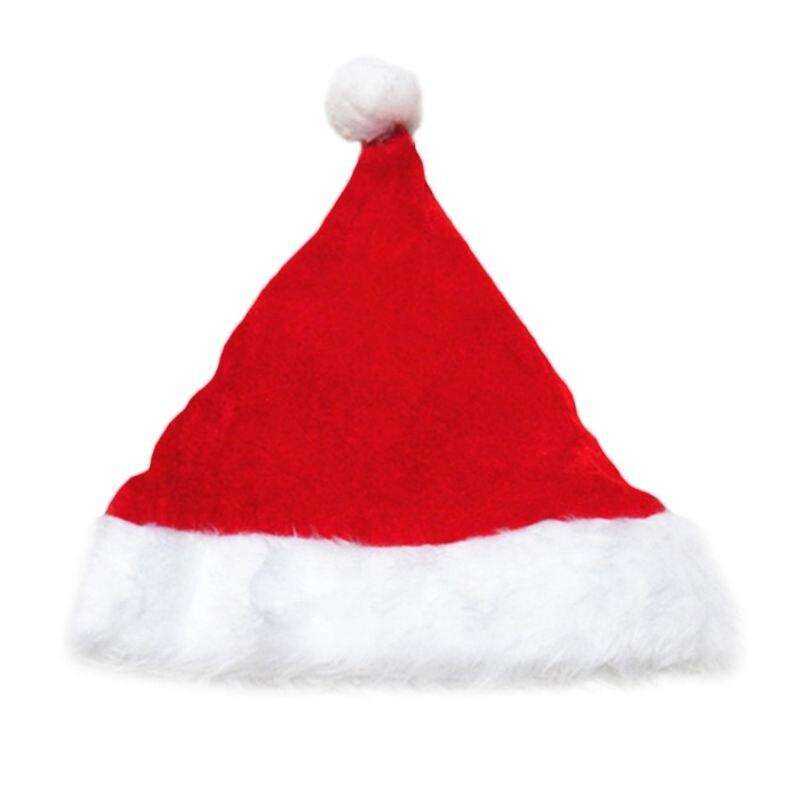 Для взрослых и детей Pleuche бархат Рождество Санта Клаус шляпа с плюшевой отделкой Сгущает комфорт лайнер классический вечерние костюм на Рож...