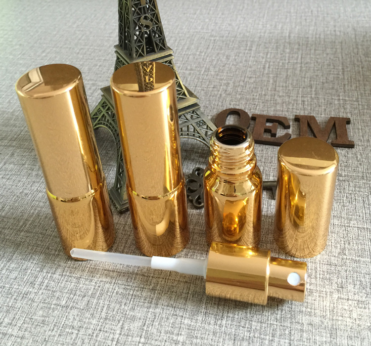 Güzellik ve Sağlık'ten Doldurulabilir Şişeler'de 50 adet/grup 10 ml Yüksek sıcaklık altın kaplama doldurulabilir boş atomizer sprey parfüm şişesi, parfüm konteyneri, parfüm ambalaj'da  Grup 3