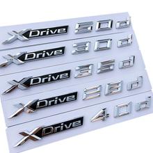 Car sticker 3D ABS car trunk decoration for BMW X1 X2 X3 X4 X5 X6 Xdrive 18d 20d 25d 28d 30d 35d 40d 50d