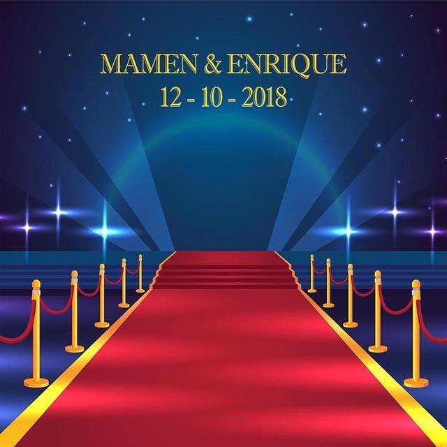 Wedding Birthday Theme Hollywood Photo Backdrop Red Carpet