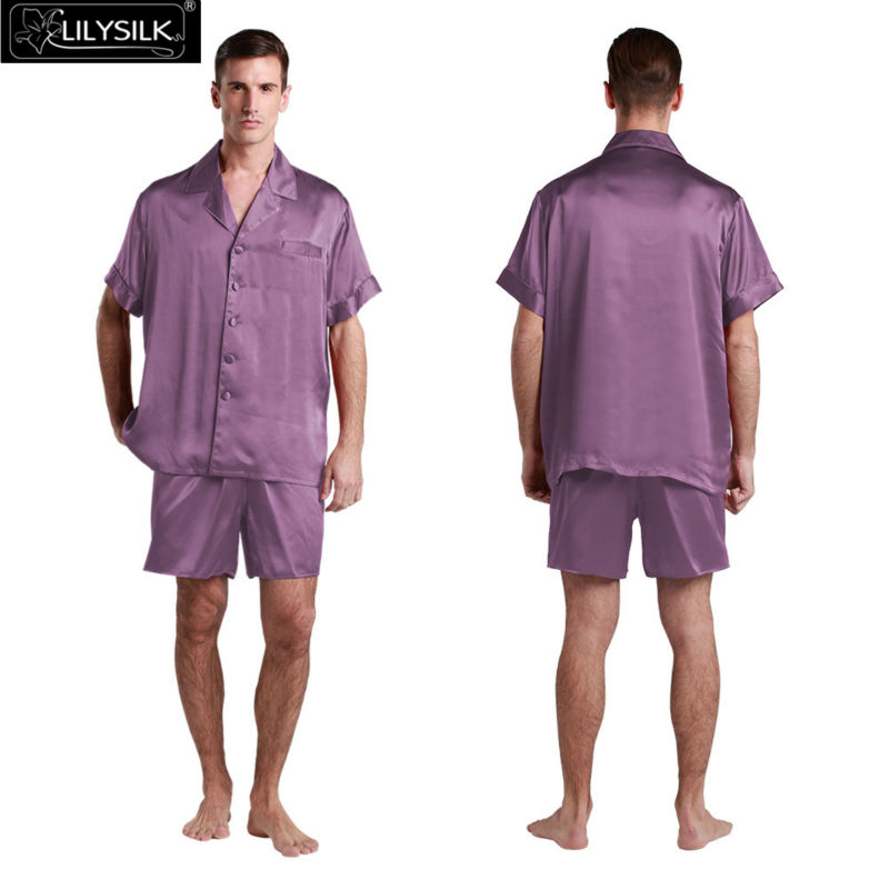 1000-violet-22-momme-classic-short-silk-pyjamas-set