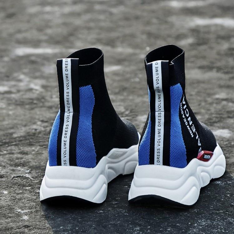 Bas Sport Femmes Chaussures Hommes De Blue Et red Couples Élastique Plates Chaussures Lettres Imprimé Bottes gqaw87WZ