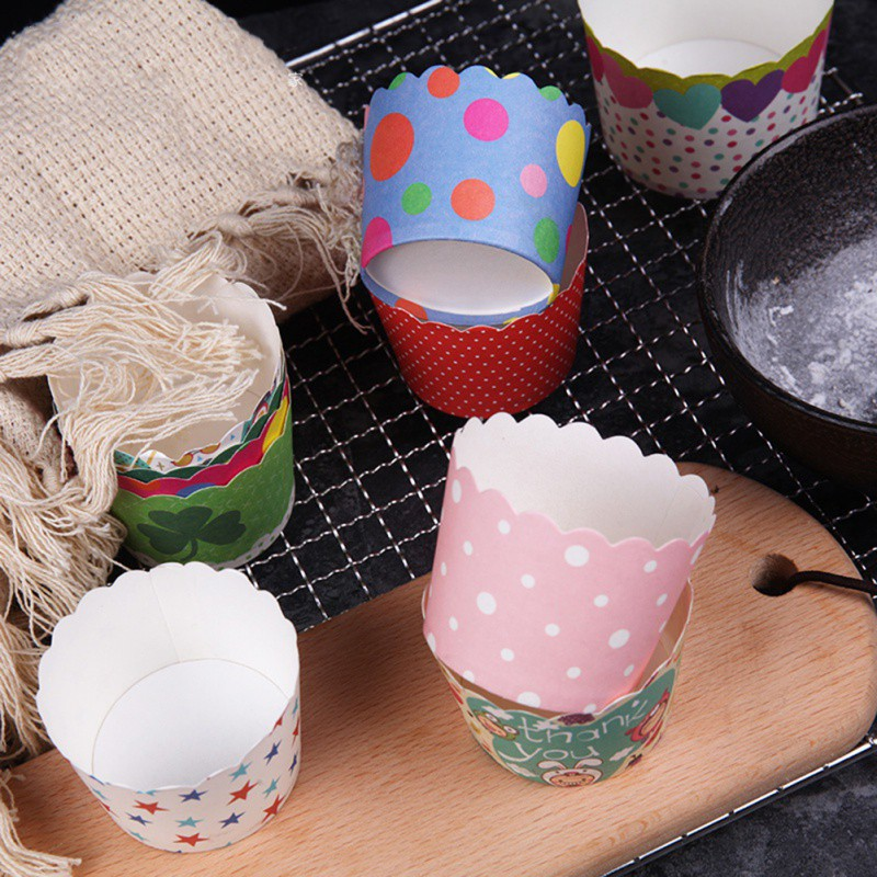 DIY Baking Paper Cup Muffin Cake Mechanism Home Garden Kitchen Dining Cake Tools Paper Cup 50 Round Cake Paper Cup Oven