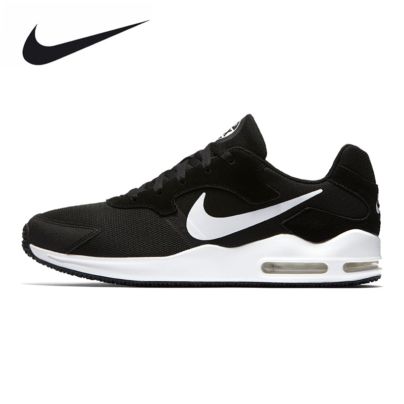 NIKE AIR MAX GUILE Men's Running Shoes, Dark Blue/black, Lightweight Non-slip Breathable Wear-resistant 916768 004 916768 006 vik max adult kids dark blue leather figure skate shoes with aluminium alloy frame and stainless steel ice blade