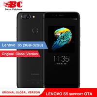 Original Global Version Lenovo S5 K520 K520T Phone Support OTA MSM8953 Octa Core 2.0Ghz Android 8.0 Dual Rear Camera Fingerprint