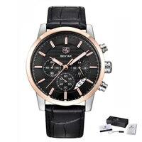 BENYAR Uhr Männer Top Luxus Marke Quarz Chronograph Sport Uhren Herren Mode Analog Leder Business Wasserdichte Armbanduhr-in Quarz-Uhren aus Uhren bei