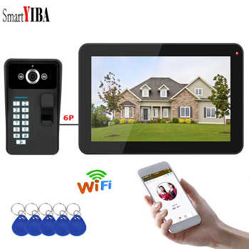 SmartYIBA 9 Inch Fingerprint Unlock WiFi Intercom LCD Video Intercom App Remote IP Intercom Video Doorbell Call Recording 64G TF - DISCOUNT ITEM  11% OFF All Category