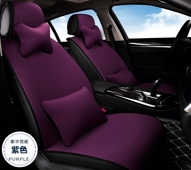 2016 New Arrival Portable Women Car Seat Covers Cushion 5 Pieces Set Girls Simple Lady