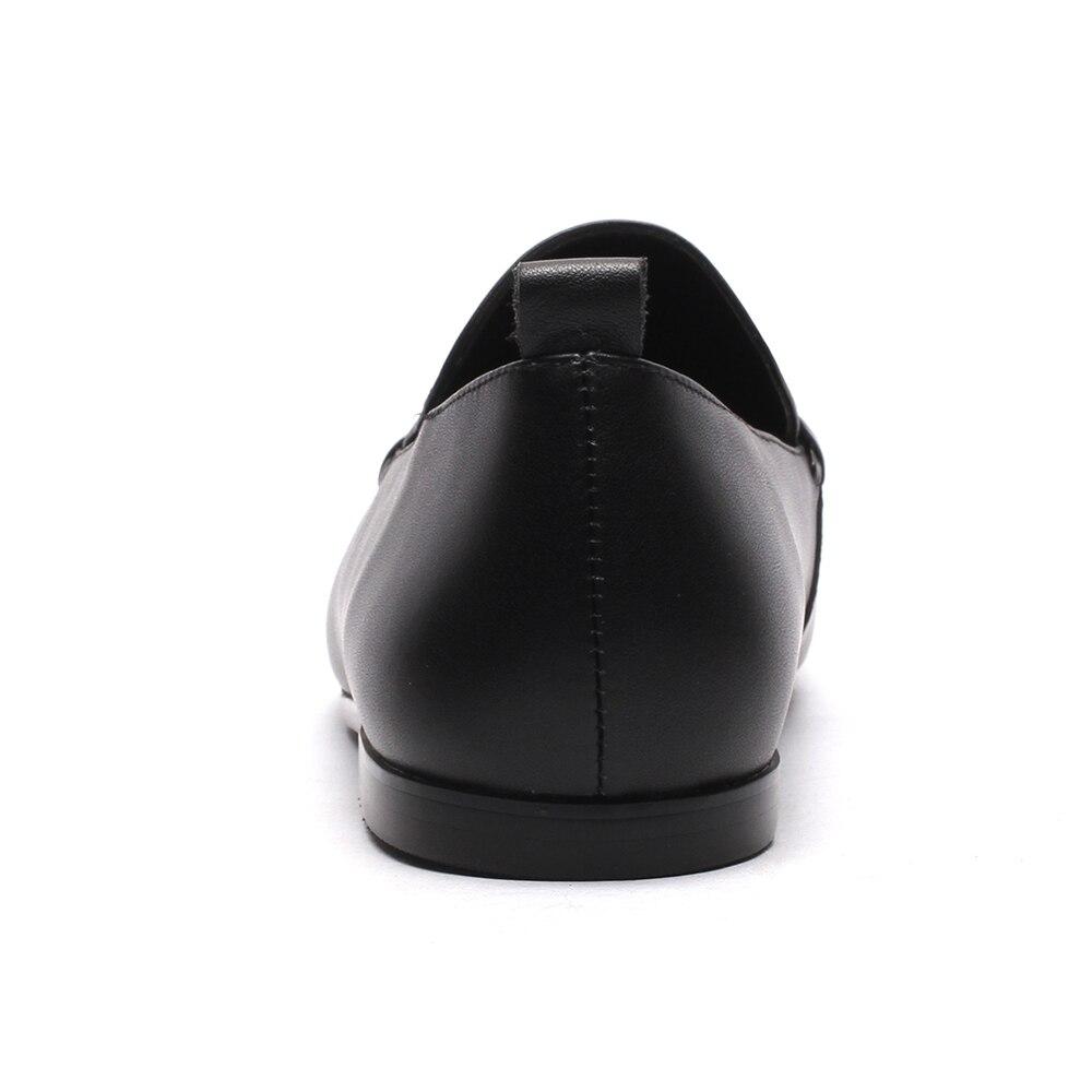 Vache Plat Chaussures Véritable Femmes 3 Carré Meotina Décontractées En Mocassins Printemps Cuir noir Beige Taille Bout 9 Ballerines Naturel tx8CBCEnwq