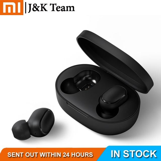Instock Xiaomi Redmi Airdots Xiaomi bezprzewodowe słuchawki sterowania głosem Bluetooth 5.0 redukcja szumów kranu sterowania