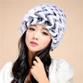 2016 The New Ladies Cap Autumn And Winter Lady Rabbit Fur Hats Winter Cap Fur  Warm Thick Wool Dome Hat Free ShippingTM17