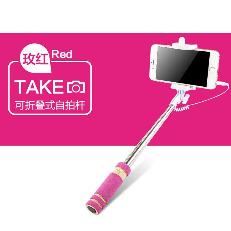 Erweiterbar wired selfie sticks einbeinstativ universal für iphone samsung meizu nokia handys