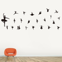 Free shipping Vinyl sticker Music ballet wall decals, living room sofa background Removable Wall Decals Mural Wallpaper
