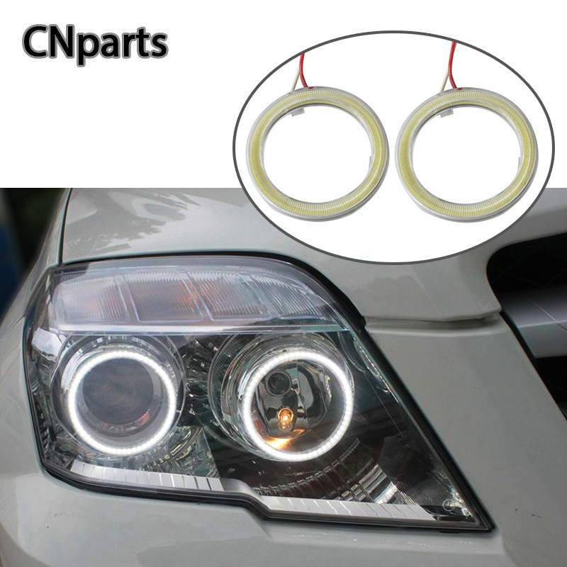 CNparts Car Angel Eyes For Ford Focus 2 3 VW Passat B6 B5 B7 accessories 60 70 80 90 <font><b>100</b></font> <font><b>110</b></font> 120mm Halo Ring With Lampshades 12V image